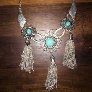 Turquoise tiered Statement Necklace